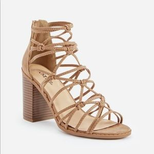Just Fab Stacked & Strapped Block Heel Sandal